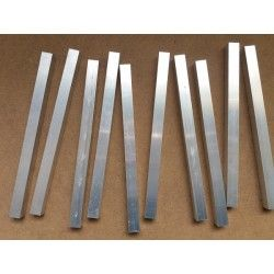 10 Tubos de aluminio cuadrados