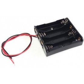 10 portapilas 4 pilas R3 1.5V AAA