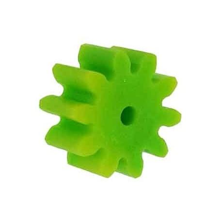 50 Piñones plástico módulo 1, ejes 2 mm.