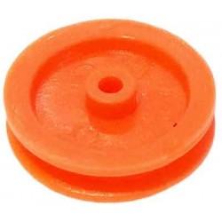 10 Poleas de plástico D útil 14 mm ejes 2 mm